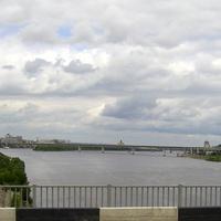 Н. Новгород - Вид на Метромост через реку Оку