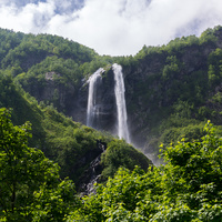 Водопад Поликаря, Горки город