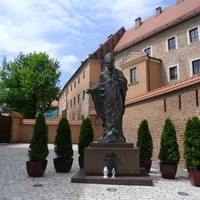 Statue of John Paul II at the Wawel Castle, Krakow