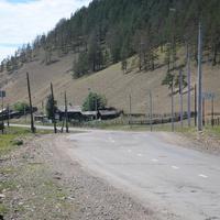 Въезд в село со стороны райцентра Турунтаево.