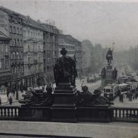 Václavské námésti/Wenzelsplatz/Вацлавская площадь 40-е года.