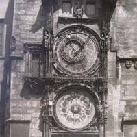 Praga-Orloj /Астрономические часы Праги, куранты Пражский Орлой XIV века,фото 40-х годов.