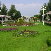 В городском саду Твери.