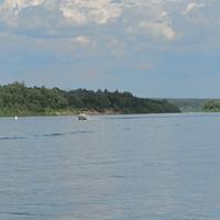 Вид на устье реки Лопасни. Сенькин брод