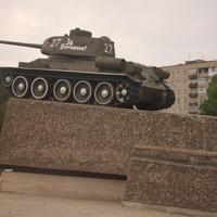 Воронеж. Памятник танкистам, защитившим город.