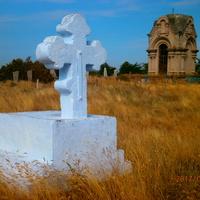Берислав. Памятный крест на Военном кладбище, где хоронили погибших во время русско-турецкой (Крымской) войны.