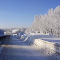 Спуск к Солояз зимой