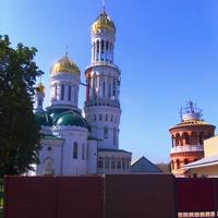 Строительство церкви Иоанна Крестителя.