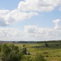 Природа у деревне Верхнее Апасово. Вид на Александровку