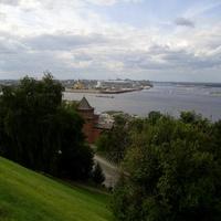 """Н. Новгород - Вид на """"Стрелку"""" из Кремля"""
