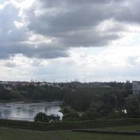 Вид на Ивангород с Нарвской стороны