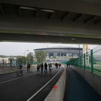 Яхтенный пешеходный мост.