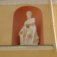 Скульптура Волхова в нише Агатовых комнат