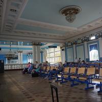 На Ж/д вокзале.