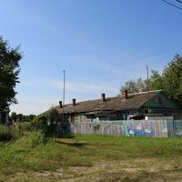 Северная Грива, дом, раскрашенный местным художником