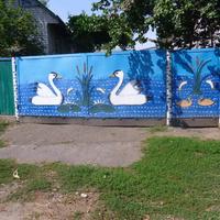 Ворота с лебедями