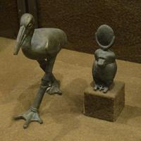 Зал Древнего Египта. Фигурки ибиса и павиана.