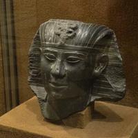 Зал Древнего Египта. Голова статуи царя Априя.