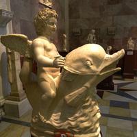 Зал античной декоративной скульптуры. Эрот на дельфине.