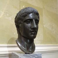 Зал Афины. Голова Дорифора.