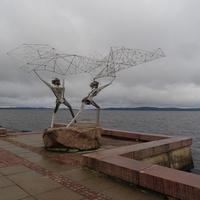 "Онежская набережная. Композиция ""Рыбаки""."