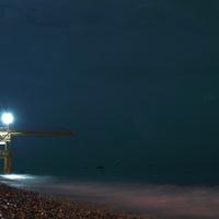 Ночной свирский пляж