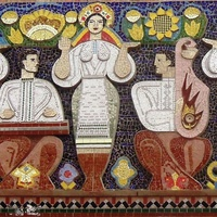 Мозаика на доме культуры.