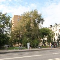 Сквер, велобайк на проспекте Мира