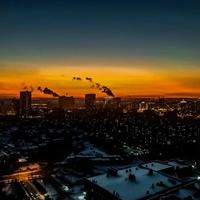 Зимние сумерки над Новосибирском