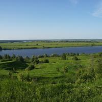 Река Ока в Константиново