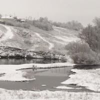 Копань, ключ зимой в Скородном.