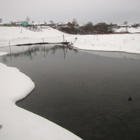 Темный ручей в Скородном.