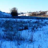 село Скородное и голубая тень на снегу.