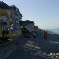 Пляж Лазаревского утром