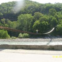 Висячий мост через реку Псезуапсе в Лазаревском