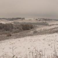 Пруд  зимой в селе Скородном Курской области.