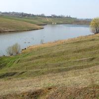 Апрельский пруд в селе Скородном Курской области.