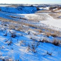 Село Скородное Курской области. Голубые тени на белом.
