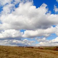 Село Скородное Курской области. Весну принесли облака.