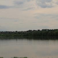 Село Белые Колодези на реке Оке с церковью Успения Пресвятой Богородицы