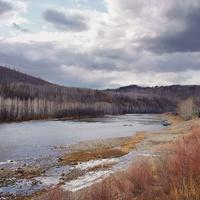 Река Черный Урюм. Поздняя осень