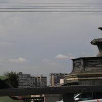 Один из фонтанов Крестовского моста