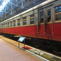 Музей железных дорог России. Головной вагон электросекции. Год выпуска 1932