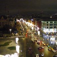 Вечерний вид на Новую площадь со смотровой площадки ЦДМ (Детского Мира)