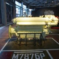 Музей железных дорог России. Дизельный двигатель