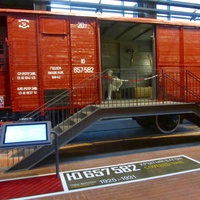 Один из вагонов санитарного поезда времен Великой Отечественной войны