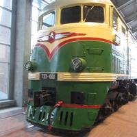 Музей железных дорог России. Грузовой тепловоз, год выпуска 1956
