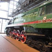 Музей железных дорог России. Пассажирский паровоз, год выпуска 1956