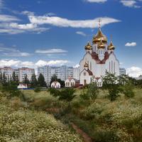 """Волгодонск, парк """"Молодёжный"""". Кафедральный собор Рождества Христова."""
