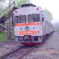 Станция Быков, дизель-поезд Д2-004.